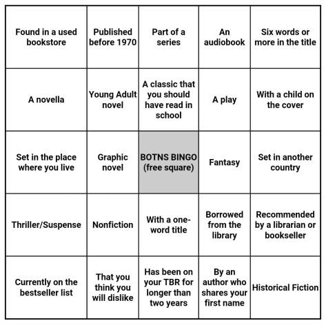 BOTNS Bingo 2016